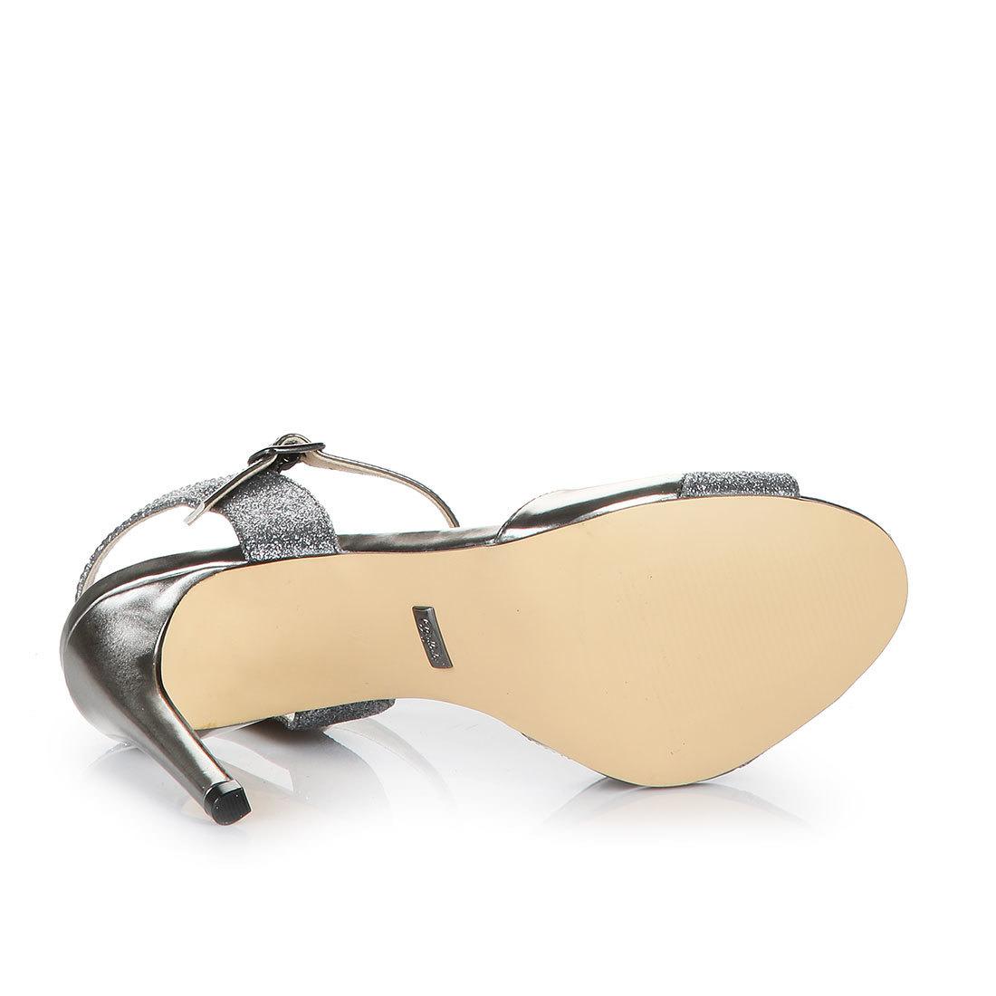 Buffalo Sandalette Metallic Anthrazit Optik In N0m8vOynw