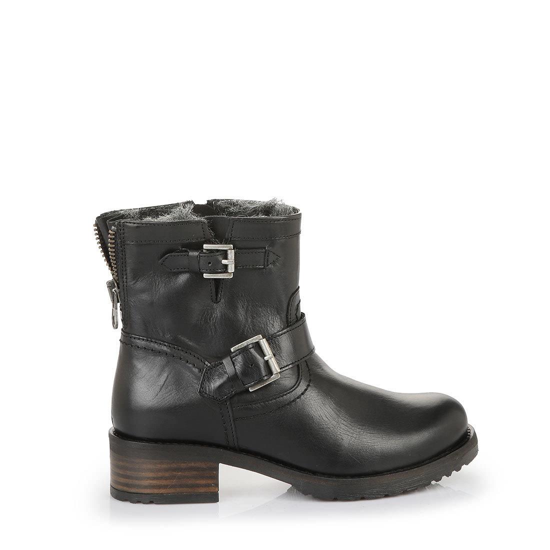 Boots Buy Black Buffalo In Online Lined Biker eIHWE9YD2