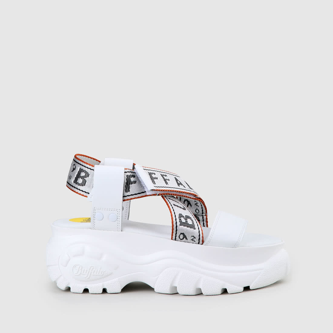 Plateforme Nappa Bo Cuir Blanc Sandale deBxCo