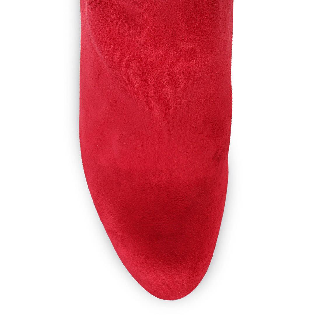 Overknee-Stiefel in rot mit Ziernähten Buffalo OGmmTicWf