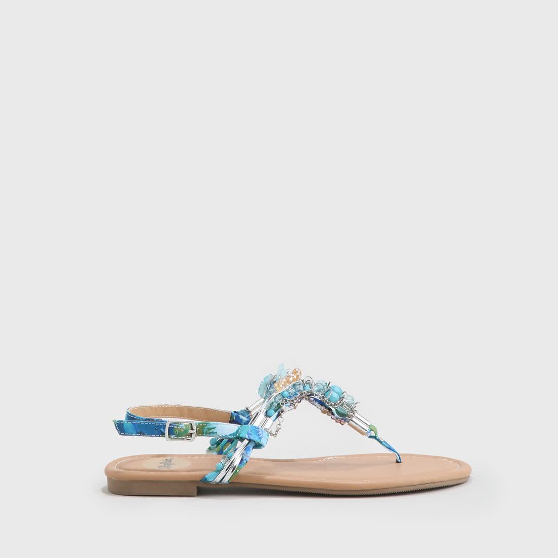 Sandale Kaufen Zehentrenner Perlen Online Mit Hellblau Buffalo xBerdCo