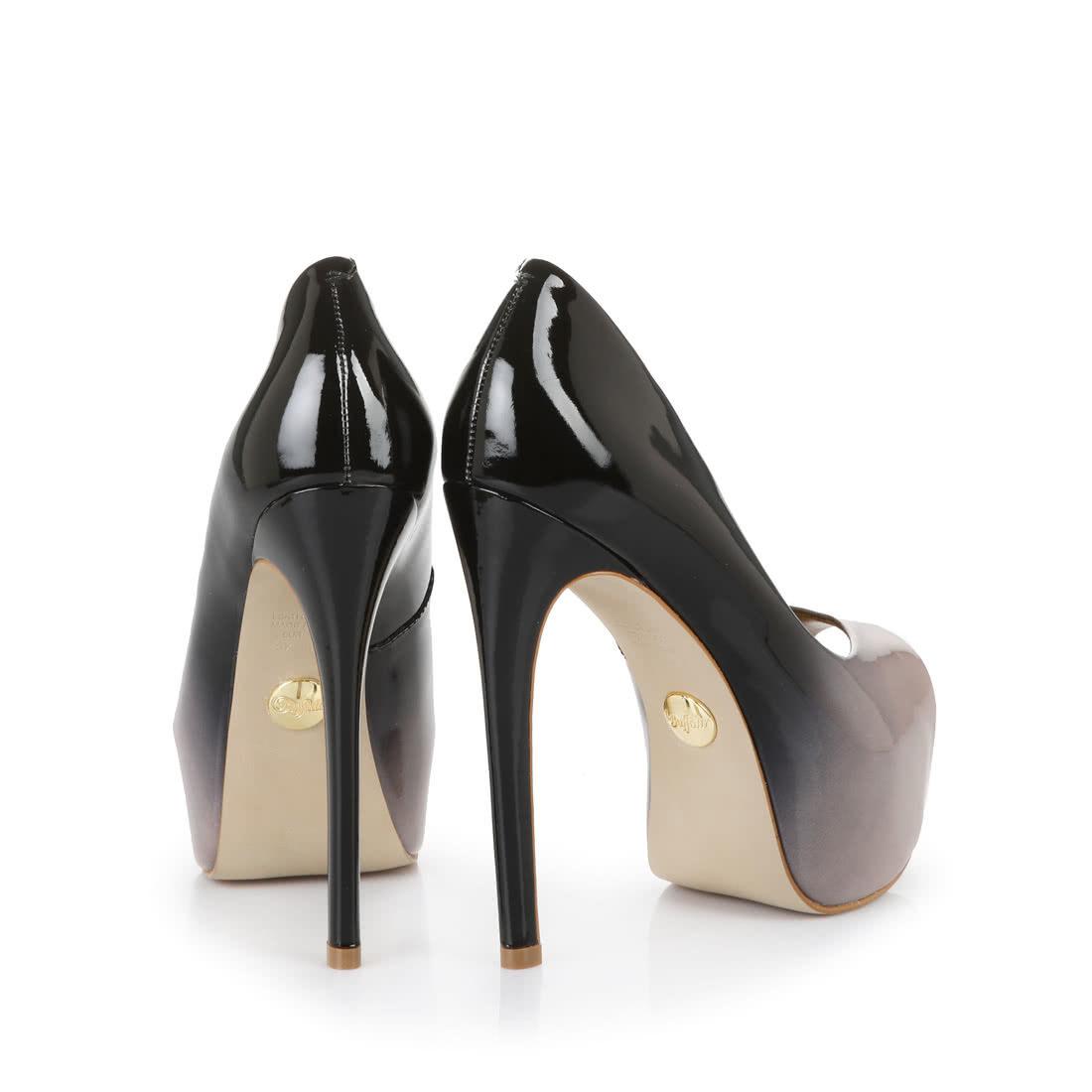 Sandales à talon Buffalo noires avec bout ouvertBuffalo 2siiuttx