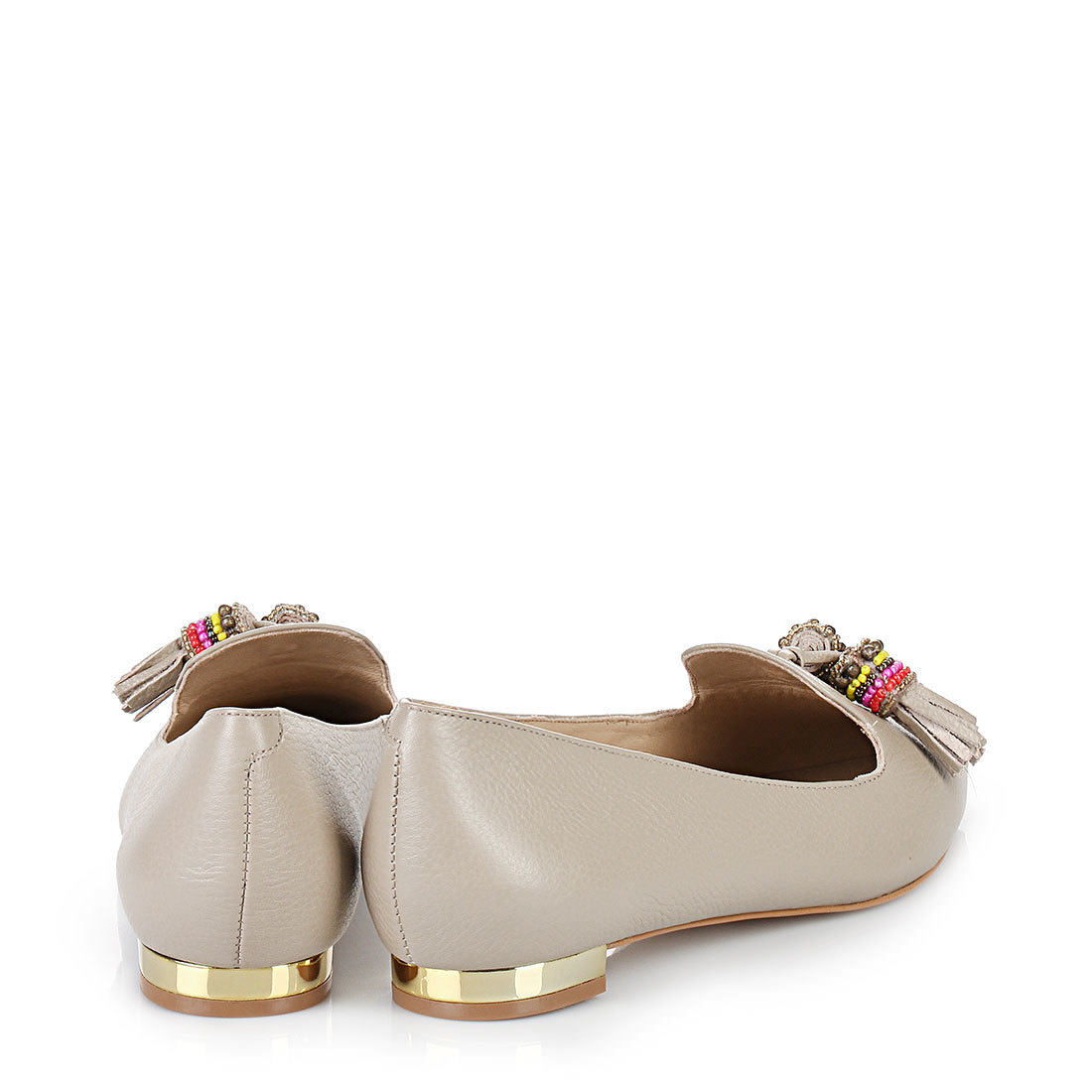 Buffle Ballerine Taupe kgZbl