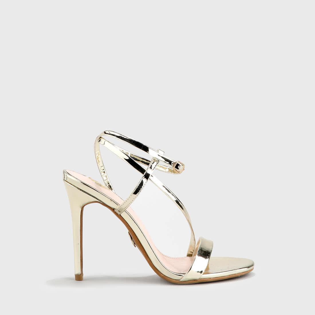 Metallic Lackoptik KaufenBuffalo® Online Emanuelle Sandalette Gold wm8n0N