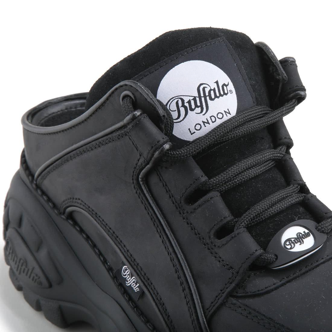 Noir Ligne Chaussure Buffalo Classic Basse À En Cuir Acheter xQrBdsCth