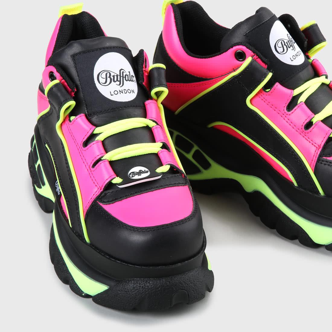 Buffalo Cuir À Classic Sneakers Acheter Chunky Noirfuchsia LMGSzVqpU