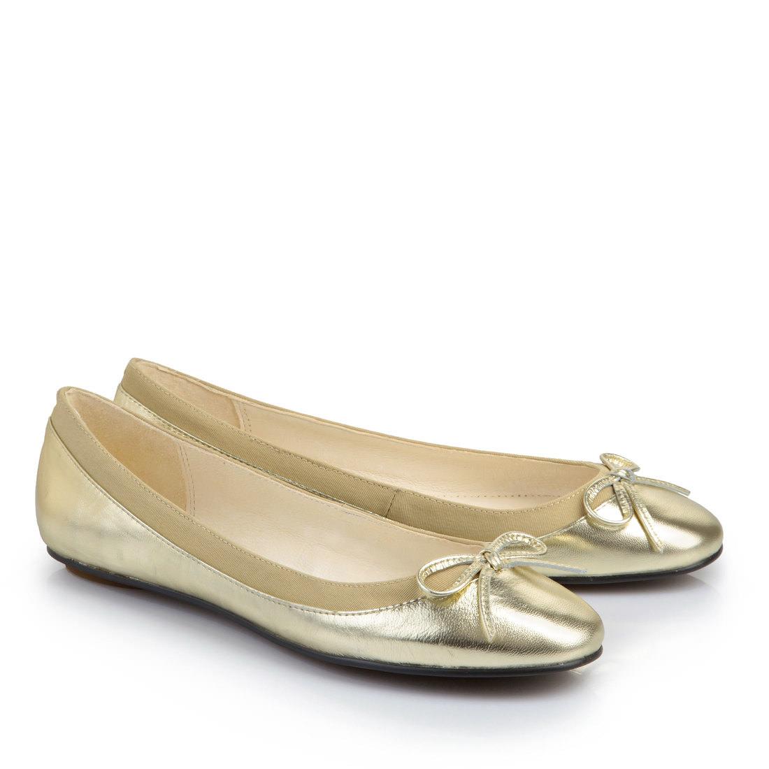 Buffalo Ballerinas in gold für Damen iPRT3keZn9