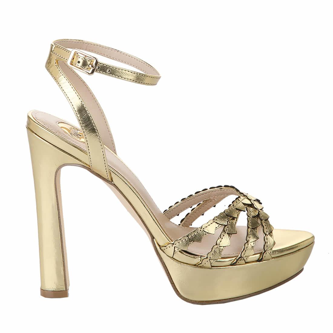 Marzipan Aus Metallic Leder Sandalette Kaufen Gold Online SjLq3c4R5A