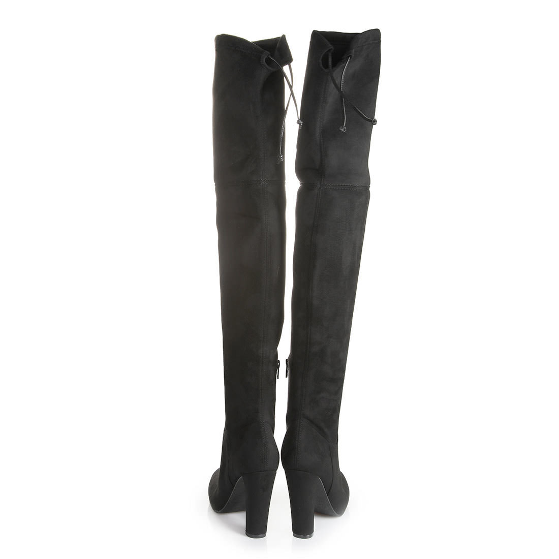 Overknee Boot Buffalo Heel Black Stretch uXTPZOki