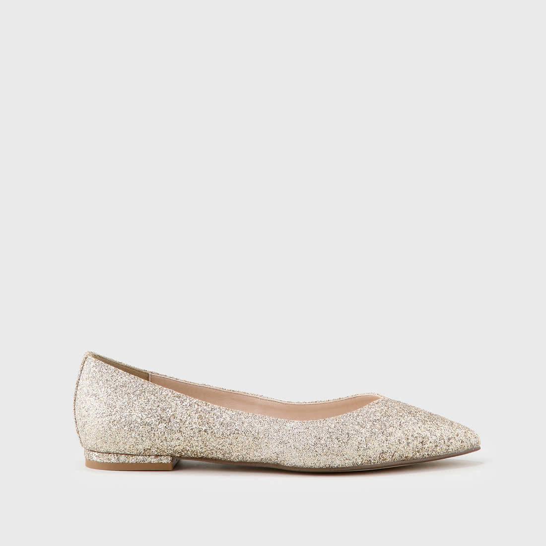 Shop Ballet Buy Glitter Flat Amireh Gold Buffalo In Online UGSLpqMVz
