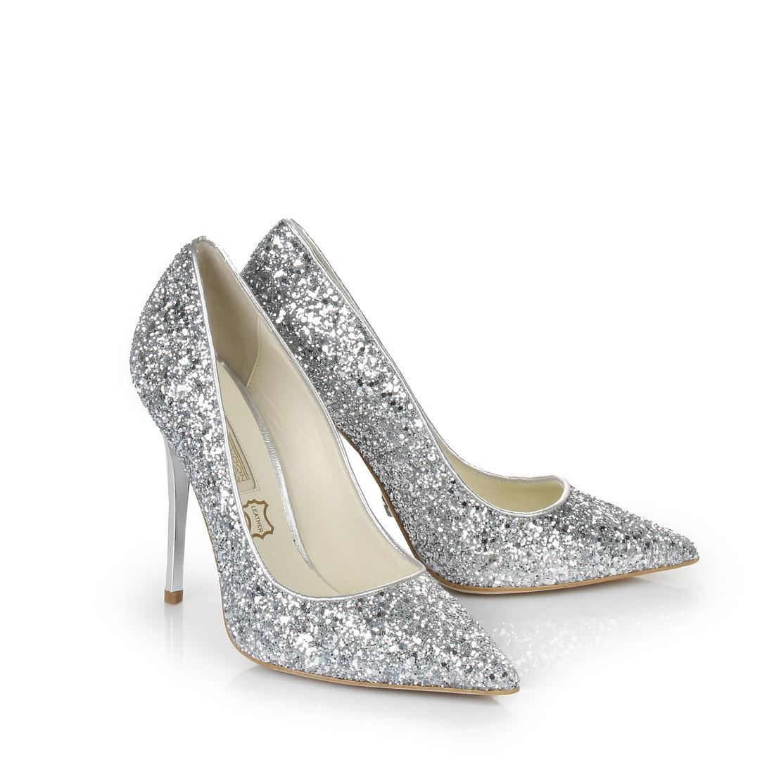 Shop Pumps In Glitter Silver Buffalo Online Buy 5j34RqLA