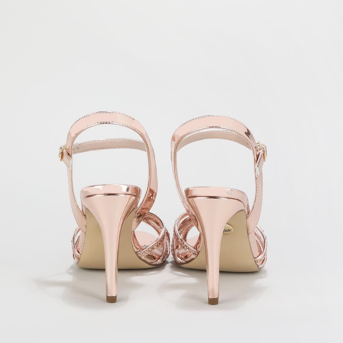 Rosé KaufenBuffalo® Metallic Afterglow Sandalette Online YWE9DH2I