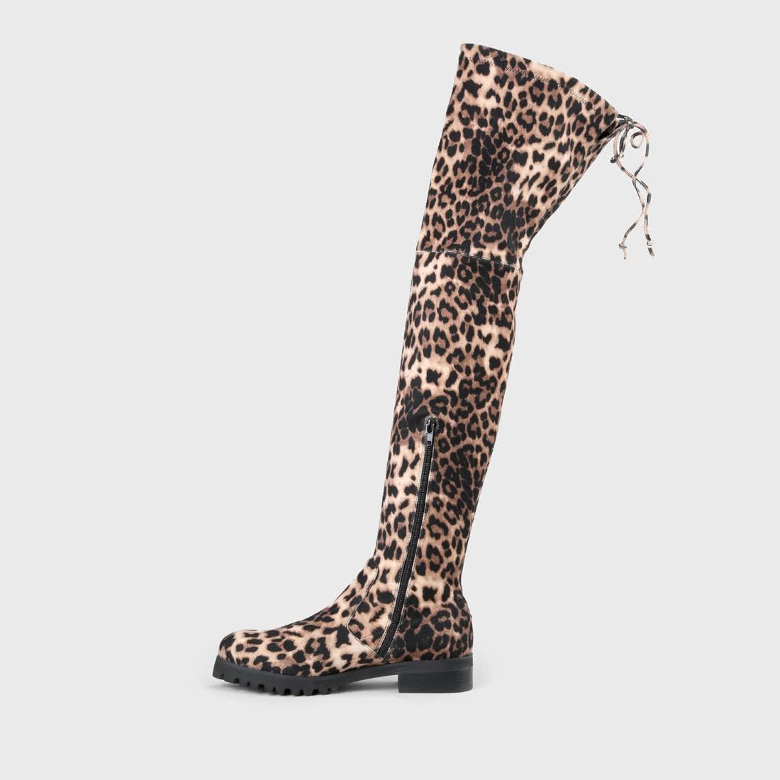 Flory Overknee Aus Optik Kunstleder Leoparden Boot 5jLR4A
