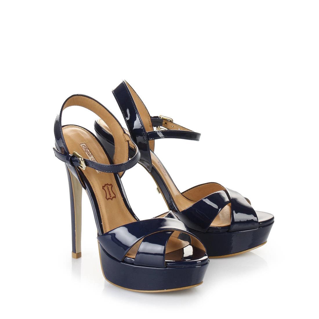 buffalo plateau sling back sandals in dark blue buy online in buffalo online shop buffalo. Black Bedroom Furniture Sets. Home Design Ideas