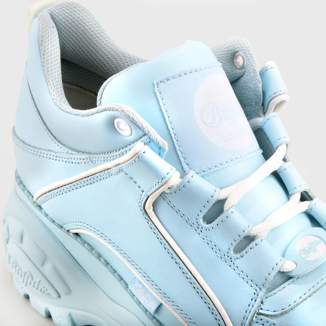 Buffalo London Classic Boots Shoes Plateau Schuhe 90er Marino Blau