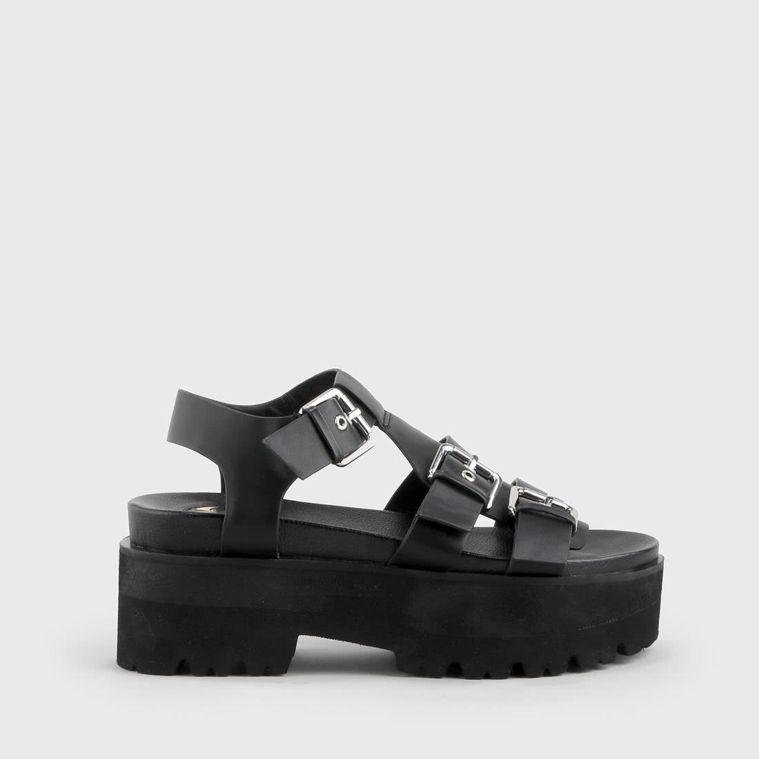 8e4d0b44aecb Elma Sandal Platform Black buy online in BUFFALO Online-Shop