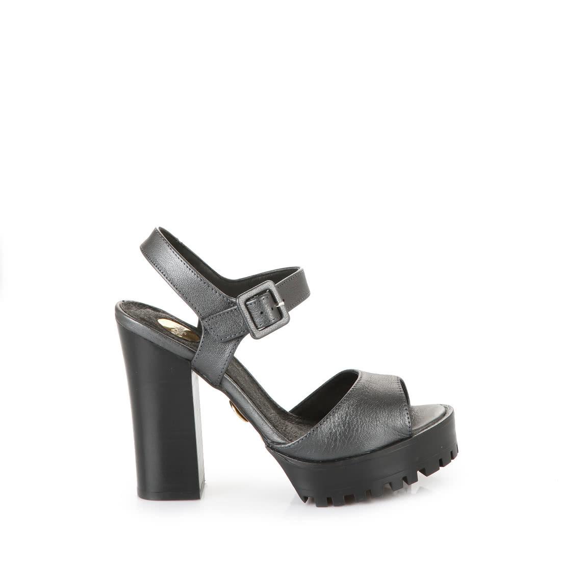 0ff728d8bf Buffalo anthracite metallic platform sandals buy online in BUFFALO ...