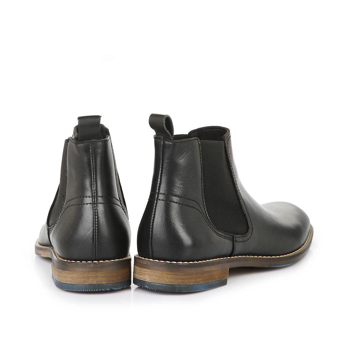Buffalo Herren Chelsea Boots In Schwarz Mit Brauner Sohle