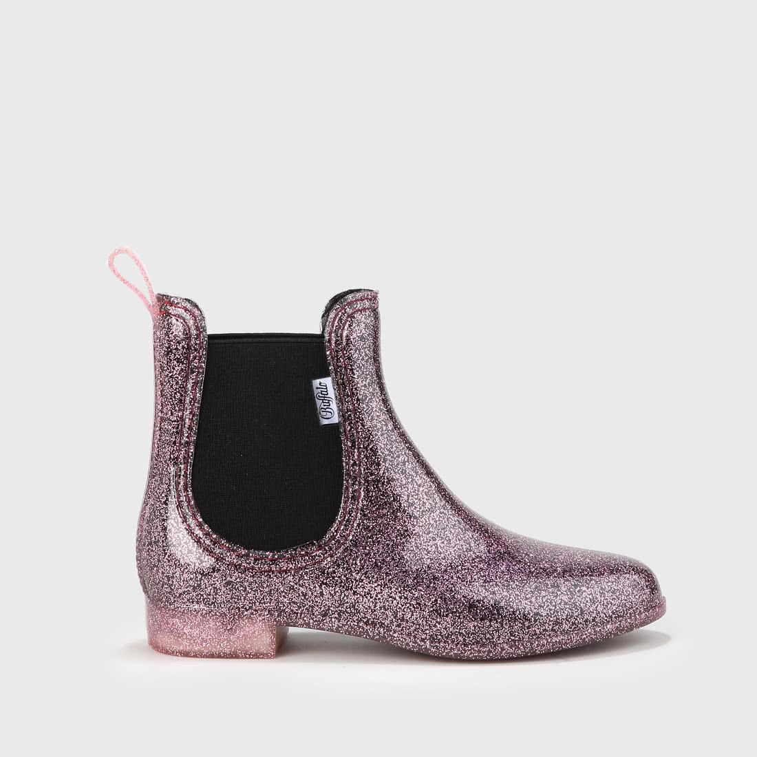 cheap for discount e0dfe 3ca0c Aline Chelsea Boot Gummistiefel mit Glitzer pink