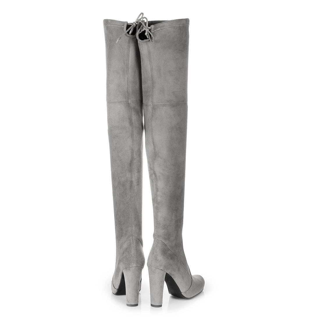 Buffalo Overknee Stiefel in grau auf