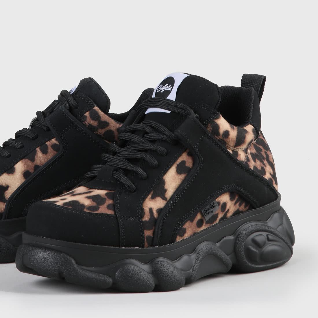 half off d2164 08d0e CLD Corin Sneaker Velours-Optik Leopard