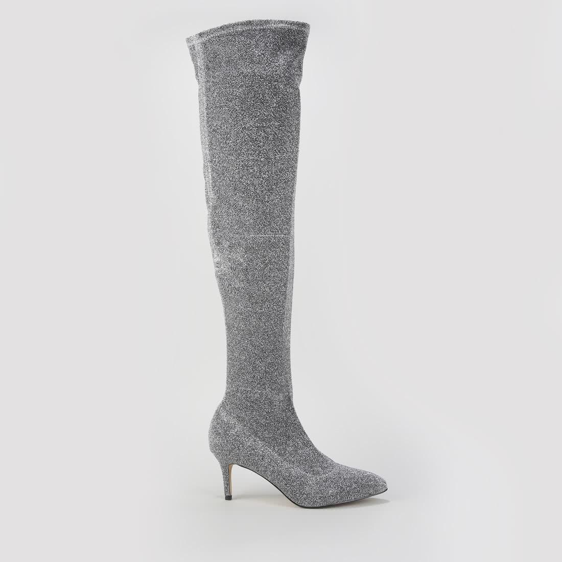 Overknee Stiefel beige Preisvergleich günstige Angebote