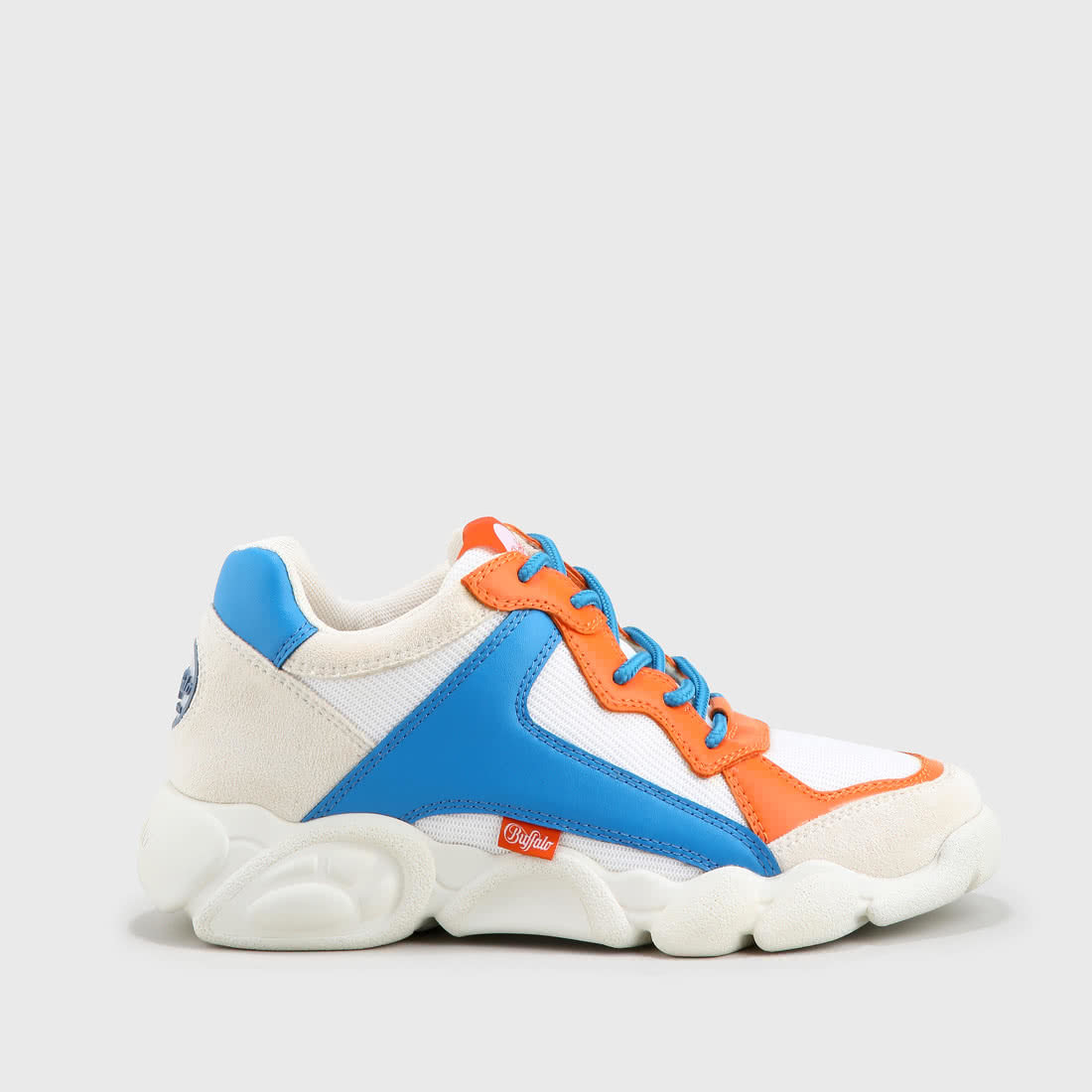 new arrival 9f163 f4027 CLD Cairo sneaker mesh leather look white/blue/orange