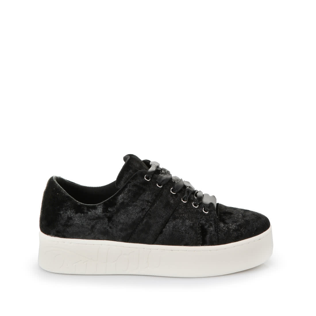 Buffalo Platform Trainers In Black Velvet Buy Online In