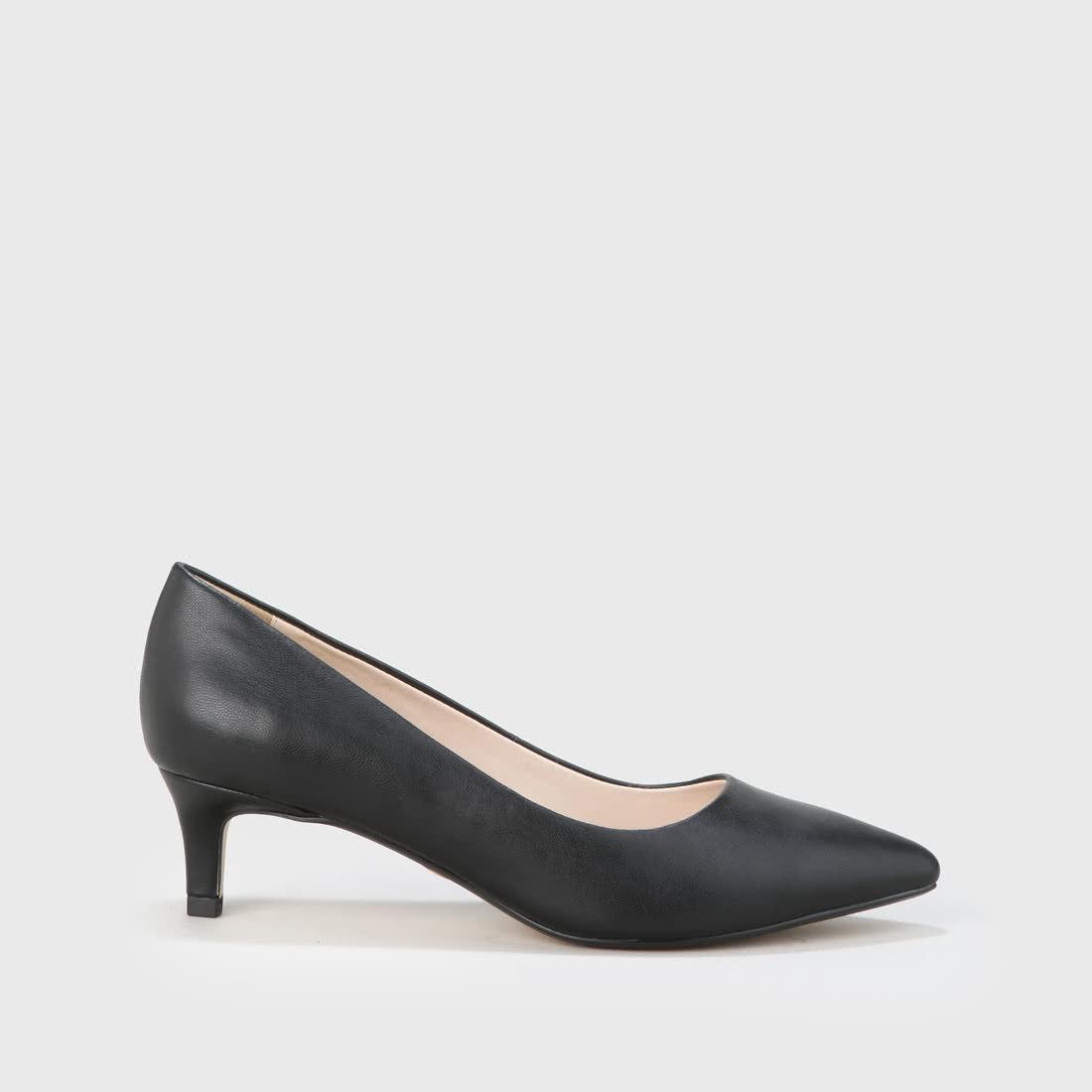 367e7787a37 Arielle Escarpin aspect cuir verni noir acheter à BUFFALO en ligne ...