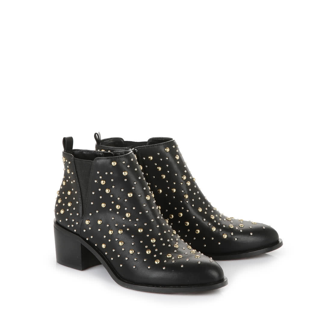 the latest 56ba6 e5045 Buffalo ankle boots in black with gold studs buy online in ...