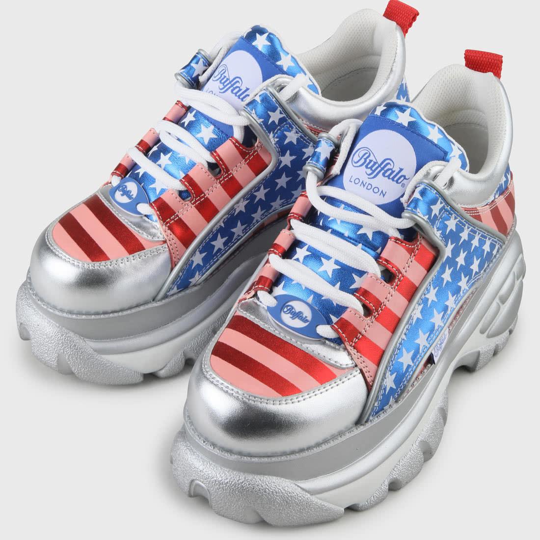 Flagge Blau Rot: Buffalo Classic Sneaker USA-Flagge Rot/blau Online Kaufen