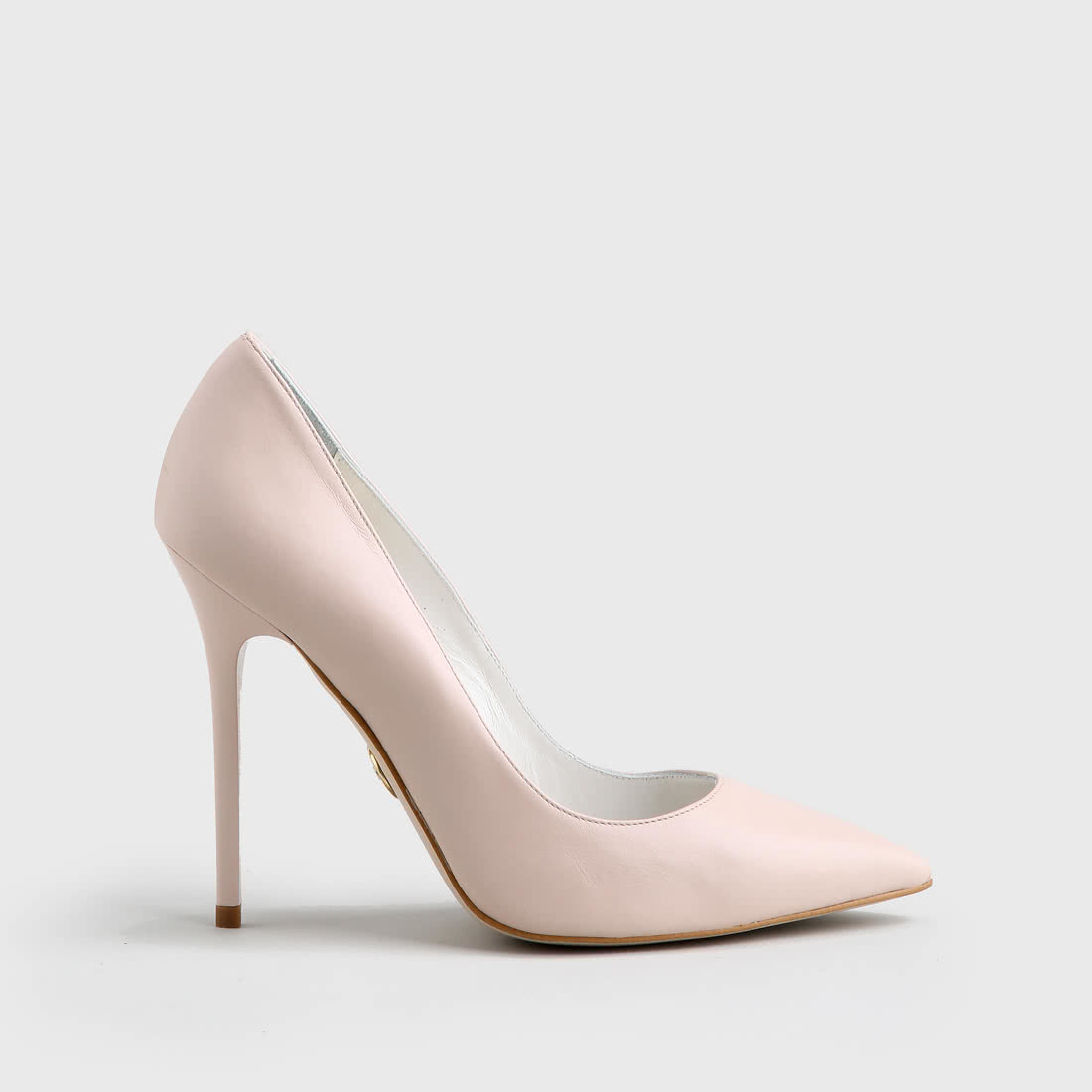 Buffalo pointed pumps leather 11 cm nude