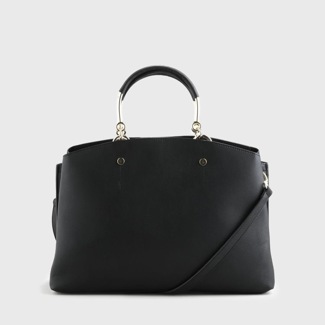 6a8b1851ef3ee Carina Handtasche Lederoptik schwarz online kaufen