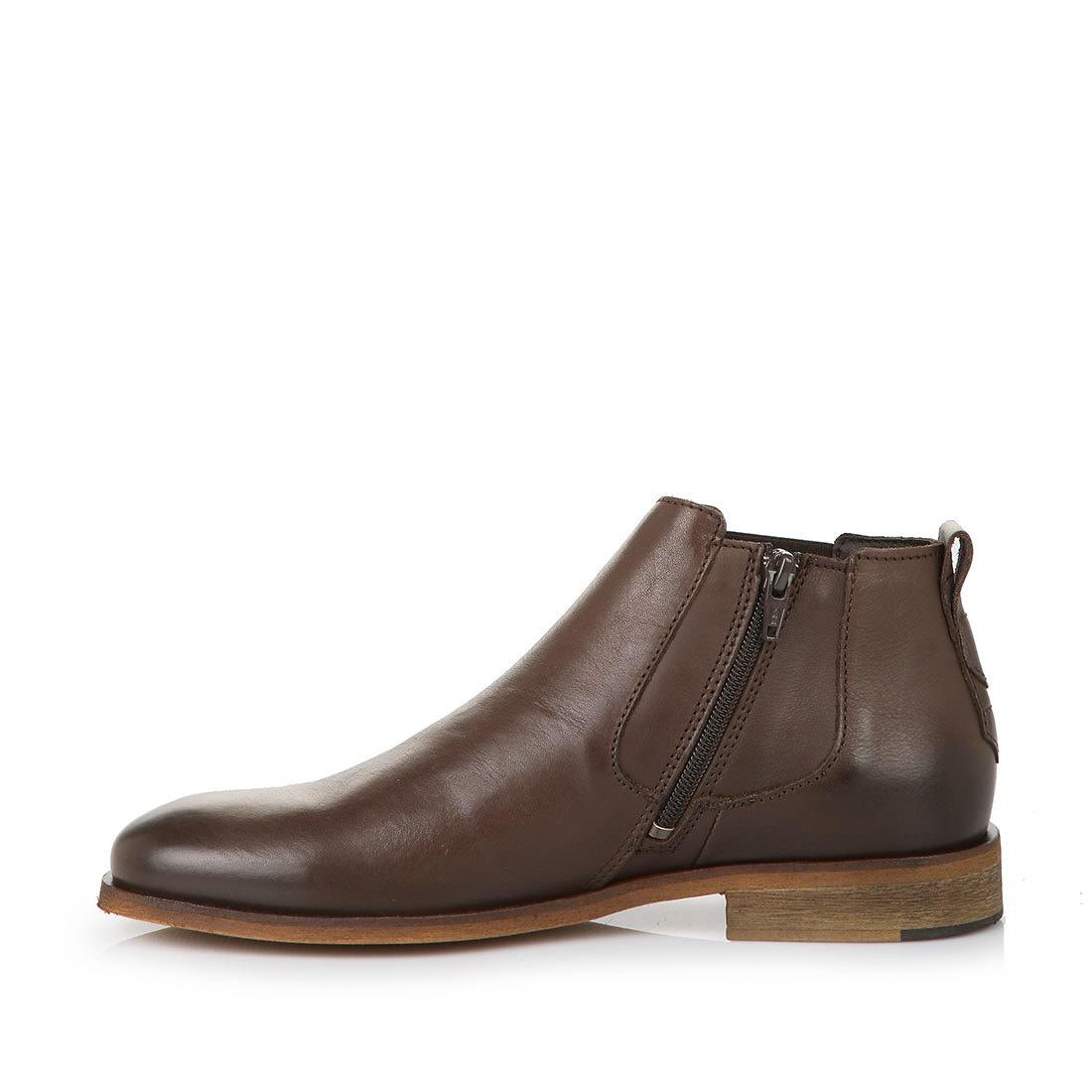 herren chelsea boots in braun mit gummzugeinsatz online. Black Bedroom Furniture Sets. Home Design Ideas
