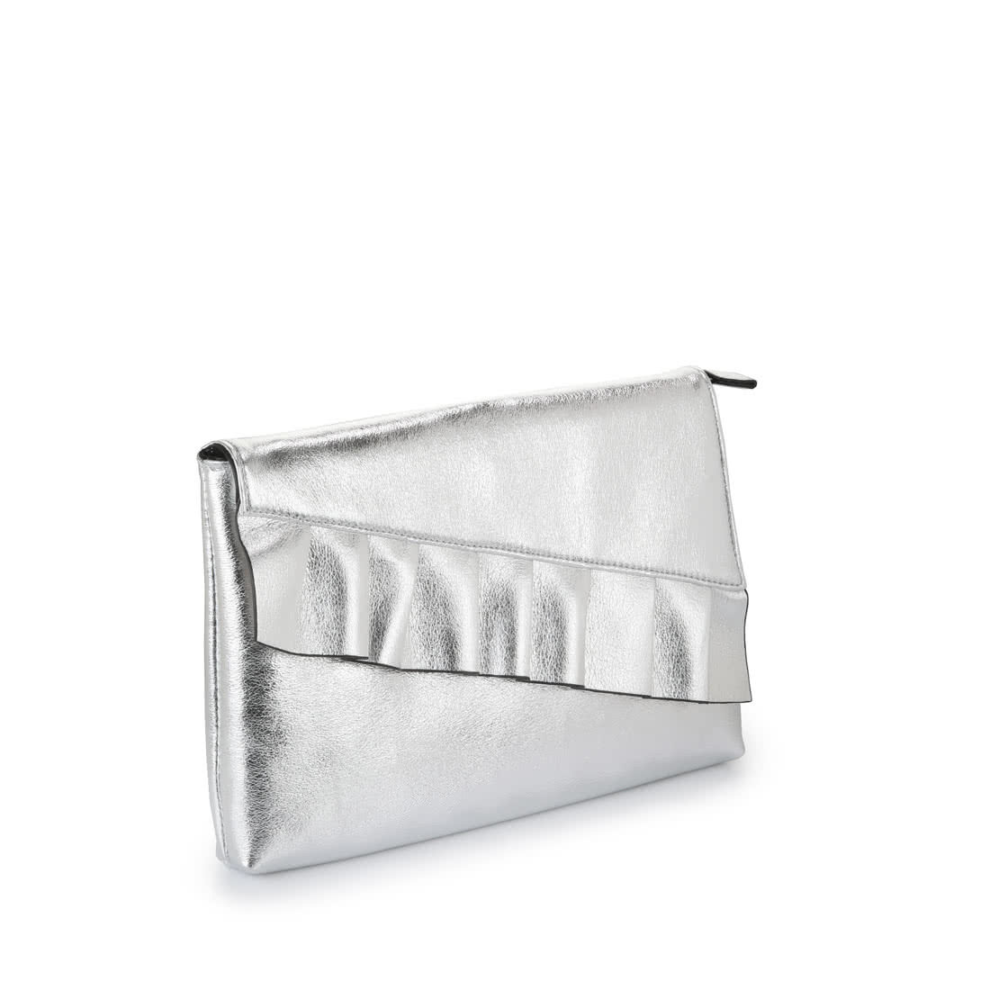 d98a331aa8 Buffalo silver clutch bag with frills buy online in BUFFALO Online ...