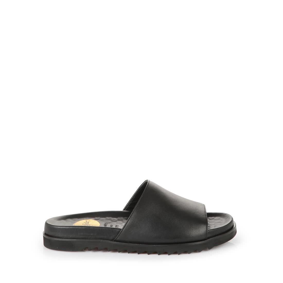 Buffalo Mens Leather Sandals In Black Buy Online Tendencies Footbed 2 Strap Brown 42