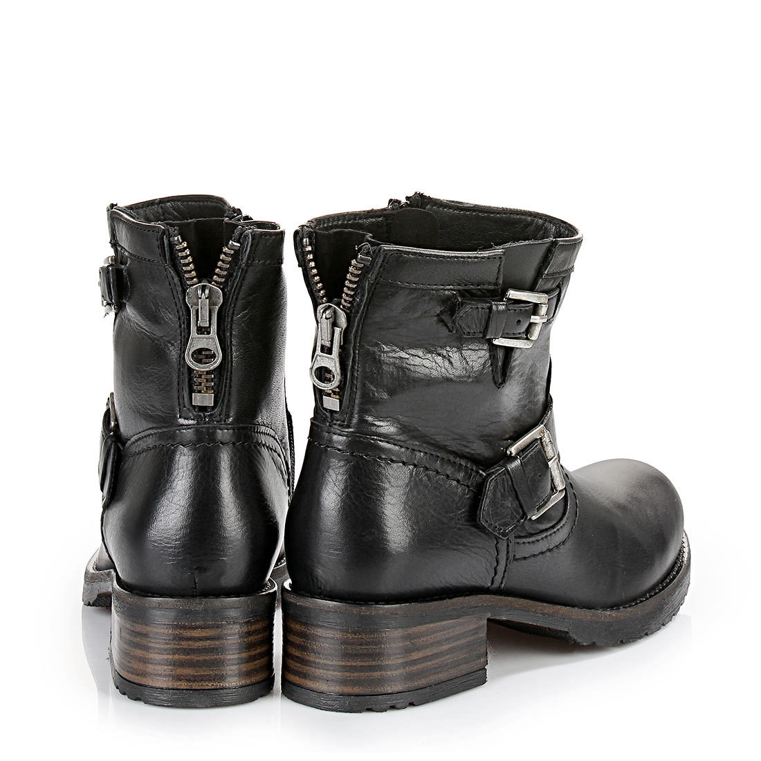 buffalo biker boots in black buy online in buffalo online shop buffalo. Black Bedroom Furniture Sets. Home Design Ideas