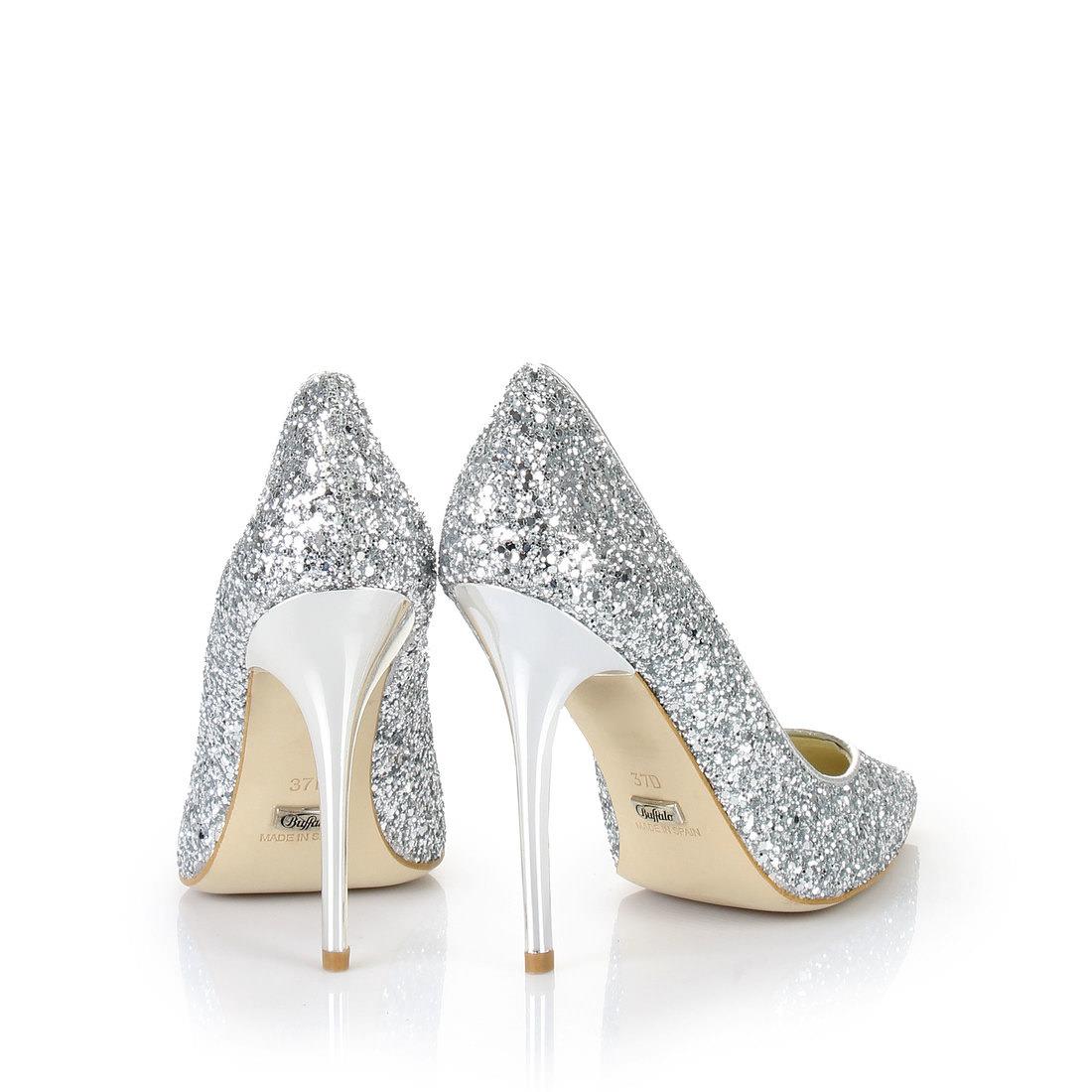 Buffalo glitter pumps in silver buy online in BUFFALO Online-Shop ...