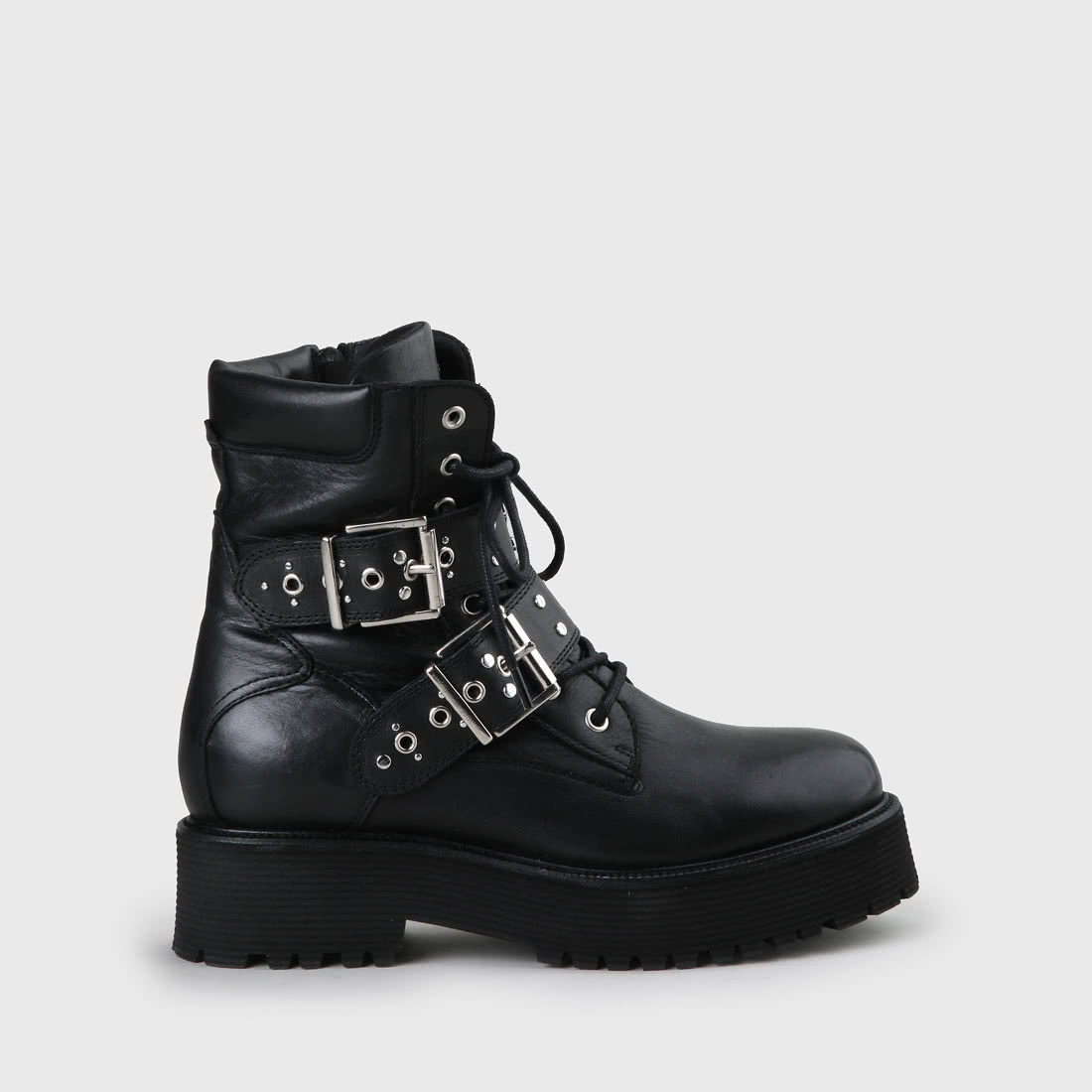 new style 14362 a19b6 Fiji Boot leather black