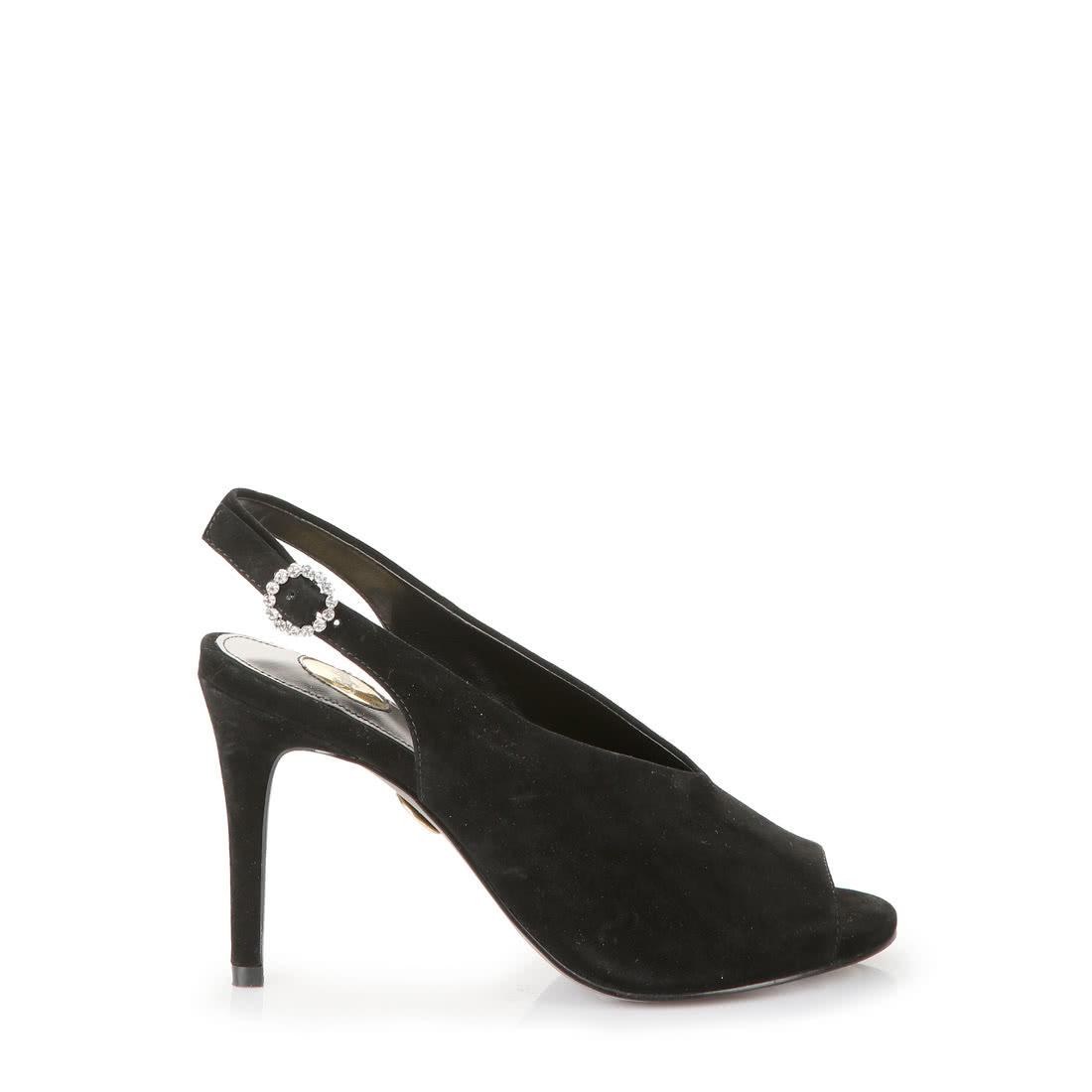 Buffalo Sandalette in schwarz mit edler Strass-Schnalle online ... 13e69858d6
