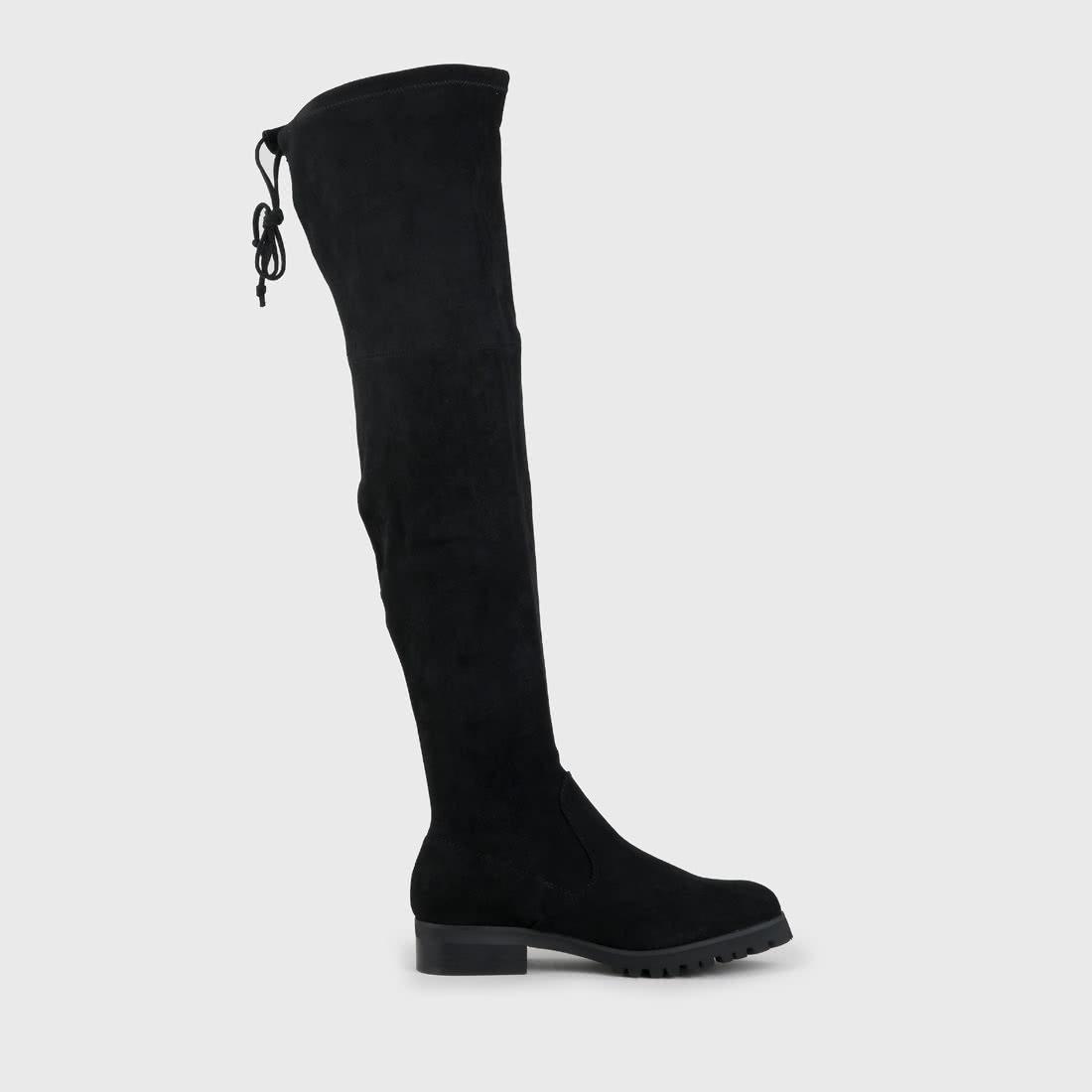 BUFFALO LONDON Buffalo Overknee Stiefel in schwarz | Buffalo