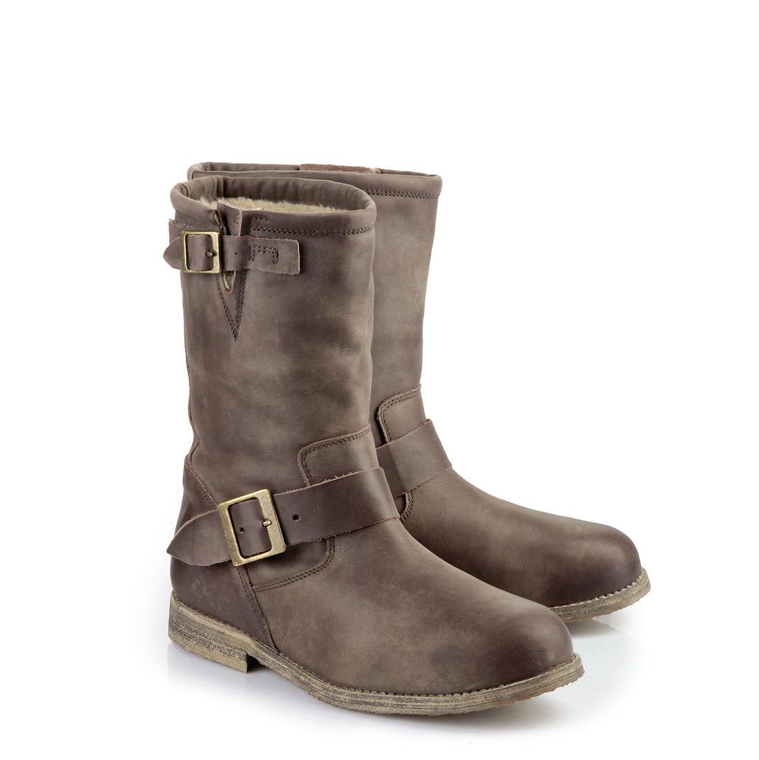 Lined Buffalo biker boots in brown buy online in BUFFALO ...