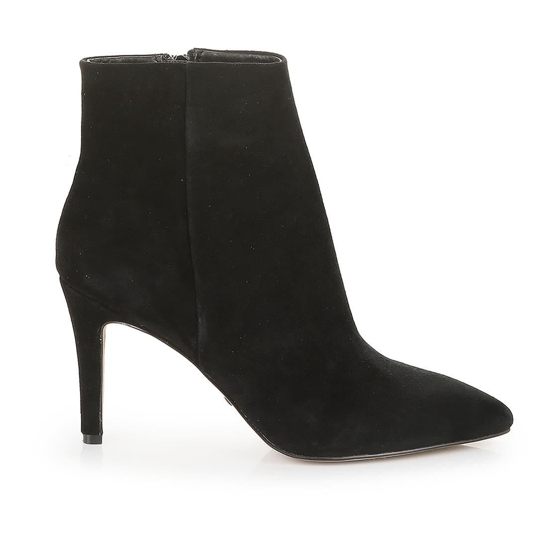 buffalo ankle boot aus veloursleder schwarz online kaufen. Black Bedroom Furniture Sets. Home Design Ideas
