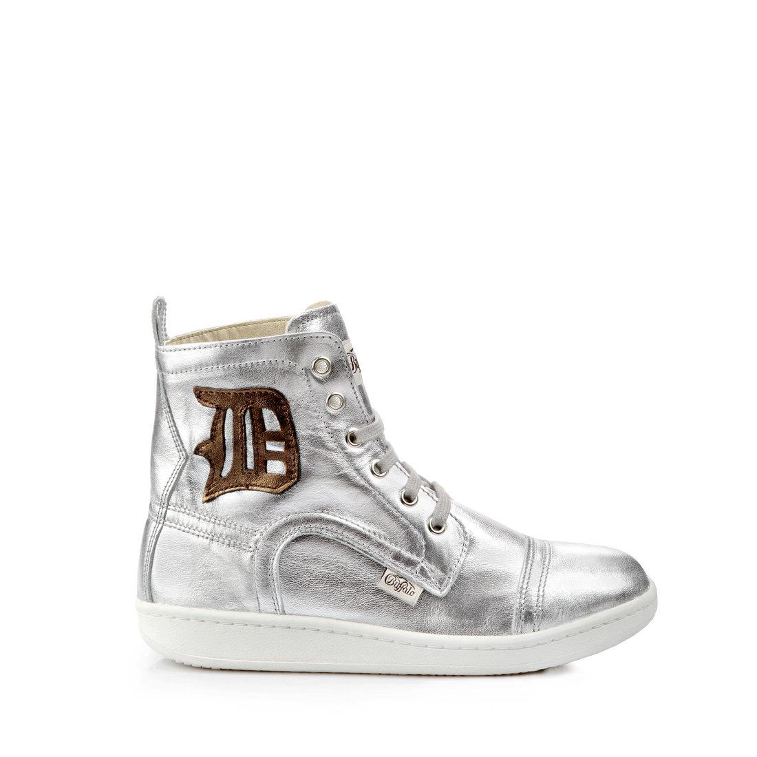 03e5a812fa11 Buffalo high-top sneaker leather silver buy online in BUFFALO Online ...