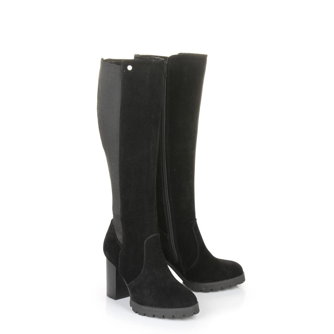 buffalo shoes damen b493c 72 s0019f imi suede stiefel schwarz black 01 37 eu. Black Bedroom Furniture Sets. Home Design Ideas