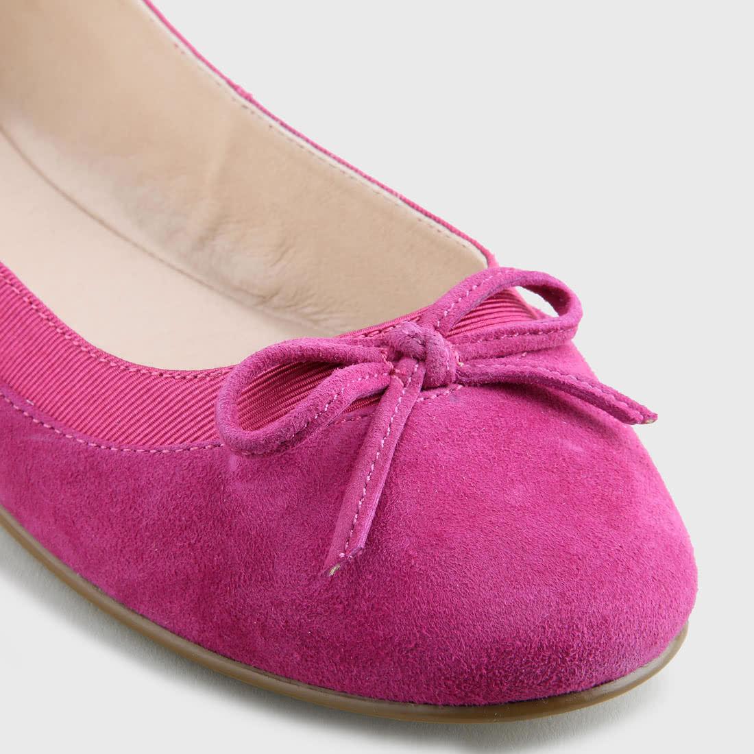 Annelie Ballerina suede leather fuchsia buy online in