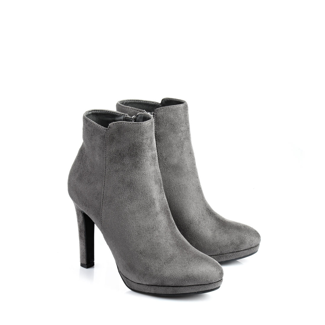 buffalo plateau ankle boots in grey buy online in buffalo. Black Bedroom Furniture Sets. Home Design Ideas