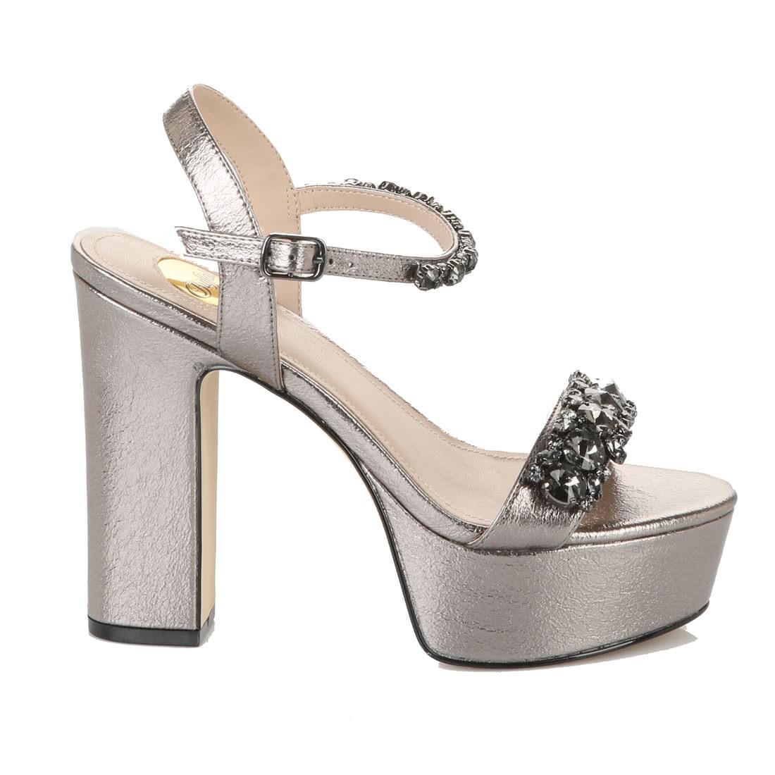 486443a3d4d Pearl Blush platform ankle-strap sandal metallic tin coloured buy ...
