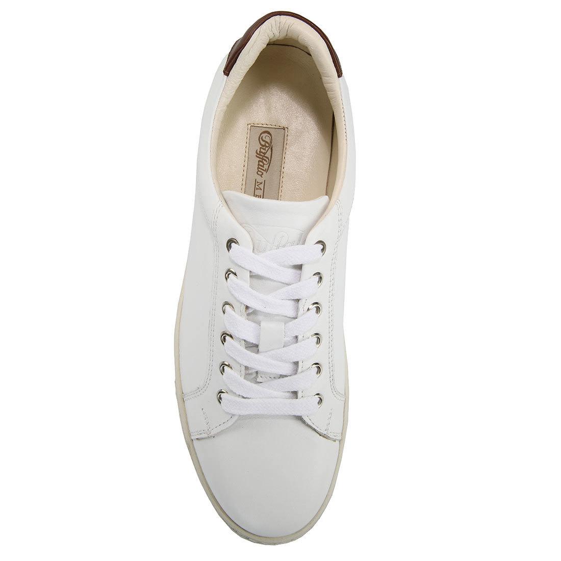 brand new 18f35 cc343 Buffalo Herren-Sneaker in weiß aus Leder online kaufen ...