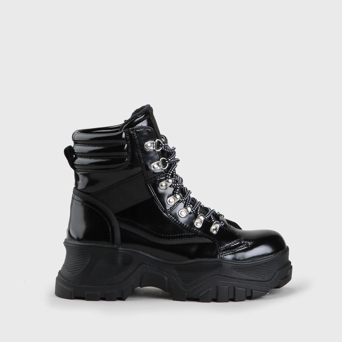 pas cher pour réduction 7e6c5 e267a Fendo Lace-Up Boot smooth leather look black